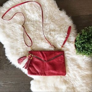 Handbags - 3/$20 Red genuine leather purse made in Italy